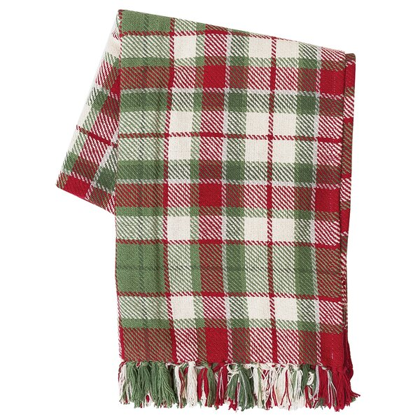 Ford Plaid 100% Cotton Throw by Loon Peak